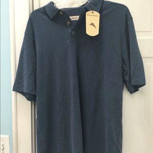 NWT -Tommy Bahama golf shirt - L